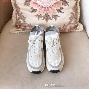 up den Frauen klassischer beiläufigen Sportschuh, Spitze flachen Boden kleine weißen Schuhe Netz, beiläufigen Sportschuh mit original Box lief