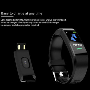 Best ID115 Plus Smart Bracelet Fitness Tracker Smart Watch Heart Rate Health Monitor Smart Wristband Universal Android Cellphones