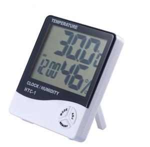 HTC-1 ЖК-цифровой температуры гигрометр часы измеритель влажности Главная Крытый Открытый гигрометр термометр метеостанции с часами DHC453
