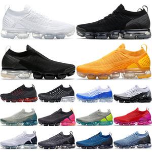 Nike Air Max Vapormax 2.0 Los hombres baratos Mujeres Zapatos para hombre de la órbita Negro Trabajo blanco Azul Gris voltios Olímpico Athletic Trainers Sport zapatillas de deporte