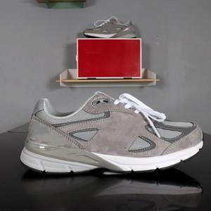새로운 990v5 회색 M990GL5 GRAY 크기 36-44 패션 트레이너 새로운 디자이너 운동화 디자이너 슈 라이트 연기 릿지