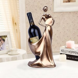 Creative Home decorativa Figuras Ornamentos minimalista moderno azul Tome Fan Beleza Wine Rack Decoração criativa Casamento Craft