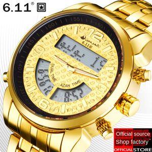 Azan Moslin Arabian Watchband Worship Watch multifunctional steel strap AZAN watch