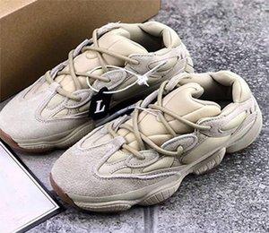 500 Stone Salt Wave Runner на открытом воздухе кроссовки Kanye West DESERT RAT 500 Камень Mens женщин тапки FW4839