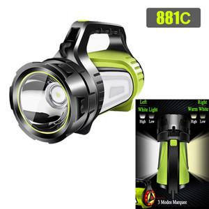 USB Power Bank портативный светодиодный Тактические Открытый Отдых Туризм Водонепроницаемый Свет СИД перезаряжаемые Handheld Searchlight
