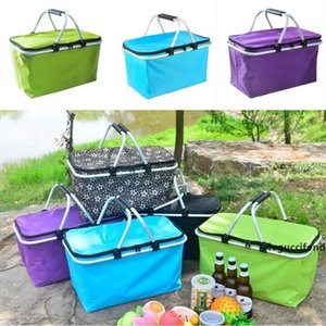 Outdoor Picnic Meal Bag Folding Oxford Cloth Ice Pack Family Outdoor Picnic Storage Bag Takeaway Container Insulation