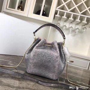 Мода Роскошная женщина сумки цепи Crossbody сумка из натуральной кожи плеча Mini Snake Замок кисточкой Bucket Bag Tote Pruse Черная сумка