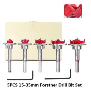 5pcs HSS 15-35mm Forstner broca Definir ajustável Saw Carbide Madeira Buraco para ferramentas eléctricas cortador de madeira