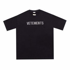 2021 Printemps Eté Europe France diamant Big Logo Vetements Broderie T-shirt Mode Homme T-shirts Vêtements Femme Coton Casual Tee