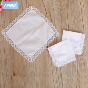 Pure cotton lace side small Diy handkerchief square towel DIY white handkerchief all Cotton