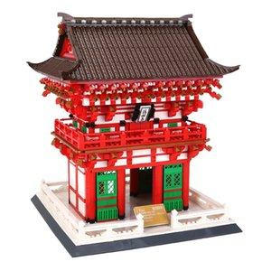 2049pcs bâtiment architecture ville bloc Le Niomon Kiyomizu-dera Temple de briques de construction enfants Kyoto kit bricolage enfants jouets cadeau 05