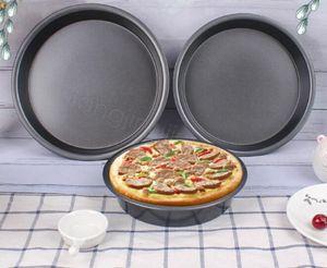 Antiaderente Pizza Teglia rotonda Deep Dish Pizza Pan Pie vassoio in acciaio al carbonio della pasticceria della torta muffa di cottura Pan strumento casa FFA4241-1