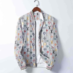 Gli uomini di marca popolare Giacca Hip Hop Bermuda europea Stampato manica lunga giacca Autunno Inverno con scollo a V di lusso nuovo modo Vestito di