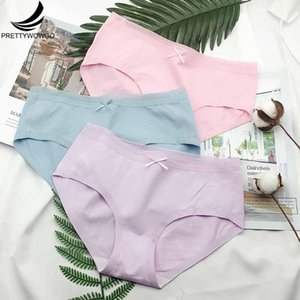 3pcs lot New Arrival 2020 High Quality Underpants Womens Solid Color Seamless Cotton Ladies Briefs Panties 915