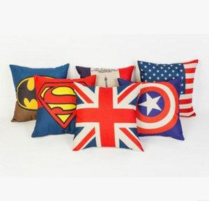 toptan Superman, Batman, demir adam, Kaptan Amerika, Avengers, ABD'nin bayrak, Paris kule yastık kılıfı, 45x45cm