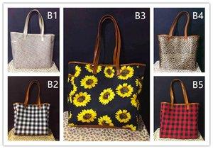 hot sale Single-shoulder Bag 17inch leopard print Sunflower pattern Sling Bag black and red Plaid big travel bags for women A07