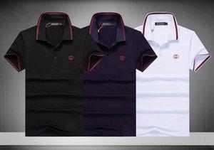 Broderie populaire de printemps Imprimer Medusa Polo d'homme d'affaires Casual Top T-shirt Marque de vêtements de haute qualité