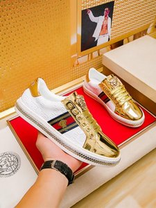 2019g custom men's casual tide shoes, sports wild leather low-top shoes, original packaging shoe box delivery 38-45