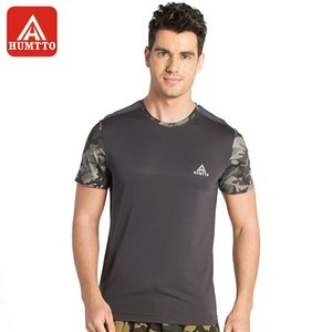 HUMTTO Männer im Freien T-Shirt Rundhals Kurzarm Summer Sweat Absorption Breathhautfreundliche Tarnung Patching-Hemd