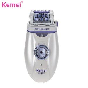 Kemei epilates depilación hembra cortador de pelo máquina de afeitar herramienta señora cuidado depilador eléctrico depilador mujer depilación
