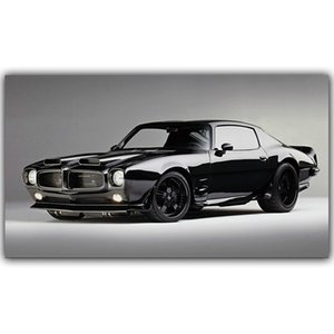 Classic Cool Firebird Black Sport Cars Poster Canvas Paintings Car Pictures Wall Art for Living Room Home Decor (No Frame)