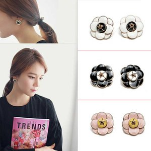 High quality camellia earrings Small fragrance fashion flower woman party earring