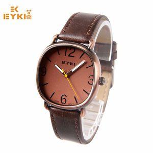 Gürtel Uhren EYKI beiläufige Armbanduhr Runde Military Watch Männlich