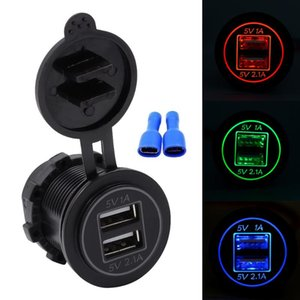 WUPP Universal Motorcycle Car 5V 3.1A Dual USB Charger Socket Adapter Power Outlet for 12V 24V for phone Waterproof Durable