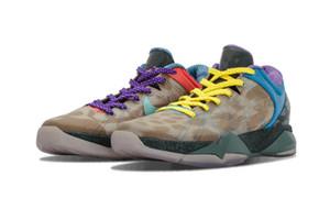 Mamba VII 7 Hangi Erkekler Basketbol Ayakkabı Yüksek Kalite Mamba Bambu Kırmızı Mor Spor Ayakkabı Ücretsiz Nakliye Kutusu Boyutu ile 7-12