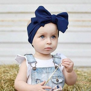 Fashion Baby Girls Big Bow Headbands Elastic Bowknot Hairbands Headwear Kids Headdress Head Bands Newborn Turban Head Wraps Wkha01 comecase