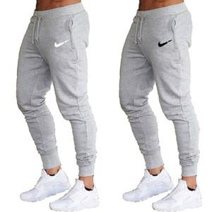 Les nouveaux hommes Joggers Brand New Homme Pantalons Pantalons simple Pantalon Jogger rouge gris noir Casual coton élastique GYMNASES Fitness pantalons d'entraînement