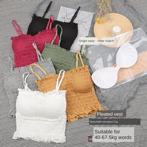 2020 new wooden lace camisole underwear lace sexy base bra vest underwear women