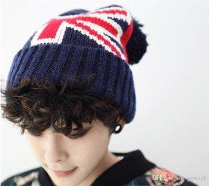 2017 Fashion Winter Hat Warm Beanies United Kingdom UK National Flag Knitted Hat For Womem Men Poms Ball Cap