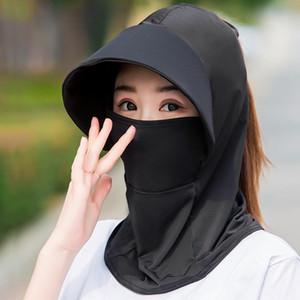 Sun-gölgeleme Ve Güneş kremi Yüz Shield saçakları Kadın Sivrisinek geçirmez Yaz Kapak Yüz Ultraviyole Işınlar Kadınlar Binme Güneş Hat Caps