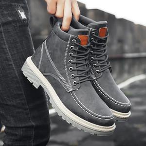 2020 가을과 겨울 새로운 남성 마틴 신발 와일드 편안한 조수 남성 부츠 하이 탑 공구 부츠 남성 신발
