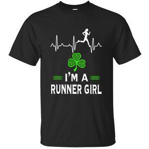 Streetwear I'm A Runner Girl For St. Patrick's Day T Shirt Men Women Kawaii Fashion Men T-Shirt Branded Top Tee Pop 100% Cotton