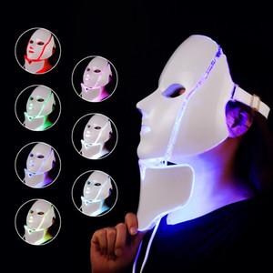 Fabrika Fiyat 7 Renk LED Işık Terapi Yüz Güzellik Makinesi LED Yüz Boyun Maskesi Cilt Beyazlatma Cihazı için Mikroklu