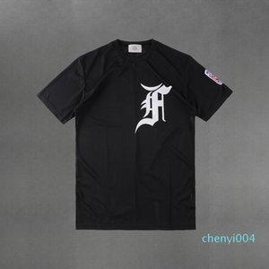 Mens Women's Fashion Short Sleeve T-Shirt FOG Fear Of God Essentials Cotton T-shirt 25403c04