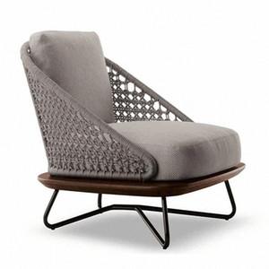 الحديد خشبي المتقدمة صب في الهواء الطلق الروطان حديقة كرسي أريكة مجموعة البن الجدول مسند الأثاث ماء المضادة للأشعة فوق البنفسجية الرئيسية فندق wqbi #