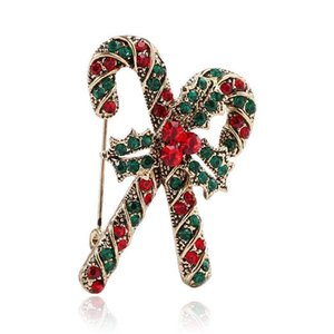 2020 designer brooch French explosion models popular in Europe and the United States popular hot new year clothing creative Christmas crutch