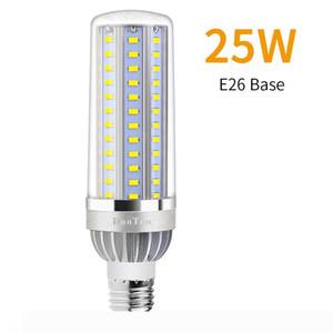 Alluminio Ventola ad alta potenza della luce del cereale E27 LED 25W 35W 50W Candela Bulb 110V E26 LED Raffreddamento nessuna luce intermittente Luce 2835.