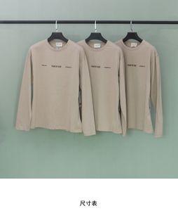 Largo de Dios FG 6 ° Vintage Temor de la vendimia Cuello Mapache 20ss Niebla Largo Retrato Imprimir T-shirt Crewneck Sleeve Tee Sudadera Hombres y manga WO VPIC