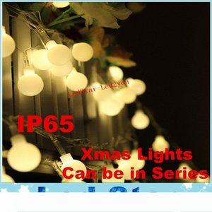 AC 110V 220V Novelty Outdoor Lighting LED Ball String Lamps 10m 100LEDs Christmas Lights Fairy Wedding Garden Pendant Garland Decoration