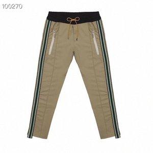 2019 Rhude Sweatpants BLACK GREY Pantalon Hommes meilleure qualité Pantalon gris camouflage armée Joggers Rhude Sweatpants OP3T #