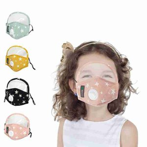 Kids Face Mask With Eye Shield Anti-Dust Washable Cotton Valve Mask Cycling Reusable Face Mask Protective Face Shield ZZA2404