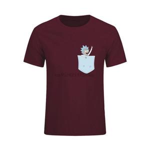 2020 Sevimli Tişörtler Erkekler Cep Yavru Tişört Golden Retriever Artı boyutu Diy Erkek T Shirt Rick Y Morty Ve Morti Kısa Kollu
