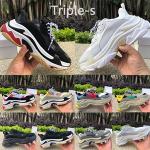 2020 uomini New Paris Triple-S scarpe da uomo casuali papà tripla nero bianco crema rosa di colore giallo buon rosso di modo delle donne della piattaforma delle scarpe da tennis