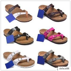 Hot Sale Mayari Arizona Gizeh 2017 summer Men Women flats sandals Cork slippers unisex casual shoes print mixed colors Fashion Flats 34-46