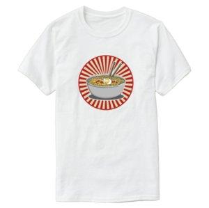 Printed Comical Ramen T Shirt Men Women Unisex Big Size S~5xl Outfit Men T-Shirt 100% Cotton Humorous Top Tee