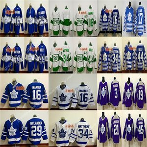 RBK قمصان الرجال مخصص للأطفال تورونتو القيقب يورق بالقميص 17 يندل كلارك جيلمور زاك هيمان تخصيص أي عدد أي اسم الهوكي جيرسي